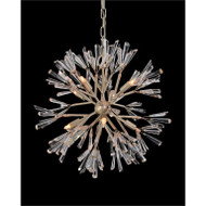 Luna: Crystal Wand Branched Eight-Light Pendant Chandelier