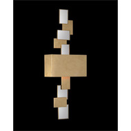 Rectangles of Mirror and Antique Gold-Leaf Wall Sconce