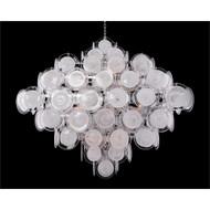 Glass Medallion Eighteen-Light Chandelier