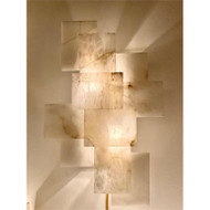Alabaster Wall Sconce with a Nod to Mondrian