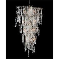 Shiro-Noda Twenty-One-Light Dramatic Glass Cluster Chandelier