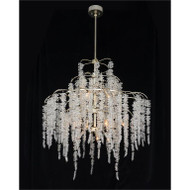 Cascading Crystal Twelve-Light Chandelier