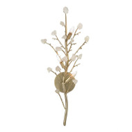 Quartz Branched Three-Light Wall Sconce