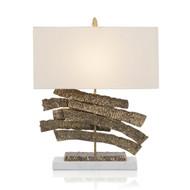 Brass Crinkle Swoosh Table Lamp