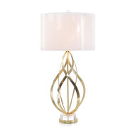 Swirls of Brass Ribbons Table Lamp