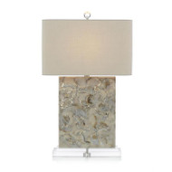 Creamy White and Sultry Grey Table Lamp