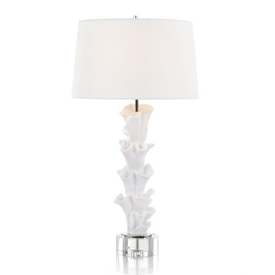 White Sculptural Table Lamp