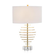 Acrylic Discs with Gold Leaf Table Lamp