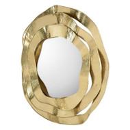 Ripple Brass Mirror