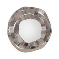 Ripple Frame Mirror in Nickel