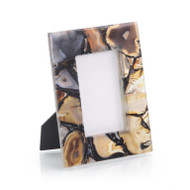 Rich Browns to Clear Agate Picture Frame - Small