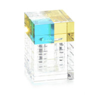 Aqua and Yellow Crystal Box