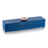 Indigo Blue Box with Stone Accent