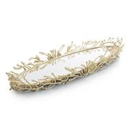 Brass Twig Mirrored Tray