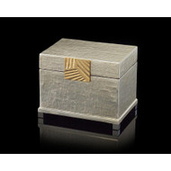 Silver-Leaf and Brass Box