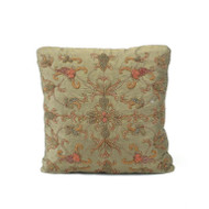 Sage Silk Heavily Embroidered Pillow