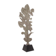 Oak Leaf Sculpture in Verdigris Bronze