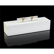 White Box with Alabaster Handle