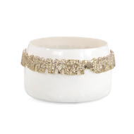 Ruffled-Collar White Bowl