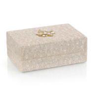 Hand-Beaded Box II - Cream