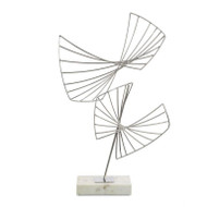 Abstract Sculpture on Cream Marble Base