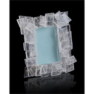 Windowpane Selenite Photo Frame