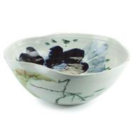 Curled-Rim Porcelain Bowl - Large