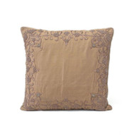 Coffee Pillow with Metallic Embroidery