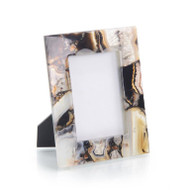 Rich Browns to Clear Agate Picture Frame - Large
