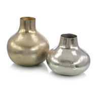 Set of Two Jars in Silver and Gold