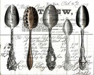 Art Classics Five Spoons Black & White