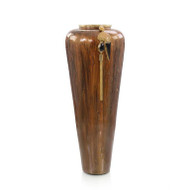Lagniappe Brown Enamel Vase