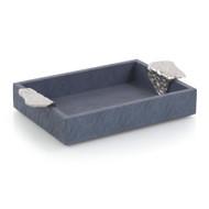 Gypsy Blue Leather Tray I