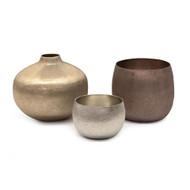 Set of Three Mink Medley Artisan Vases
