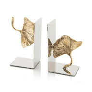 Pair of Ginkgo Leaf Bookends