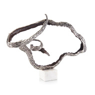 Horizontal Organic Movement in Antique Silver