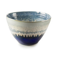 Reactive Blue and Cream Bowl - Small