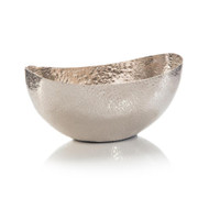 Oval Bowl in Weathered Silver