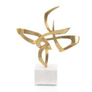Ribbon Sculpture - Gold