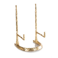 Giacometti Plate Stand in Gold