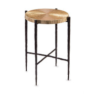 Black Oxidized and Gold Accent Table