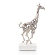Giraffe in Motion I - Silver