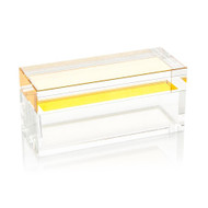 Saffron Yellow Crystal Box