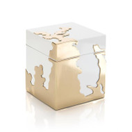 Morphed Box in Golden Stainless Steel