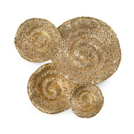 Set of Four Gold Escargot Wall Hangings