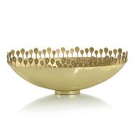 Polished Brass Oval Crown Bowl I