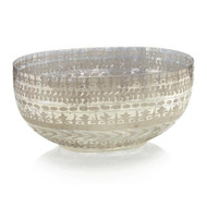 Etched Mercury Glass Bowl