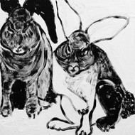Art Classics Rabbit Charcoal 1