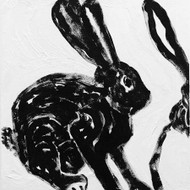 Art Classics Rabbit Charcoal 2