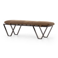 Four Hands Darrow Bench - Umber Grey